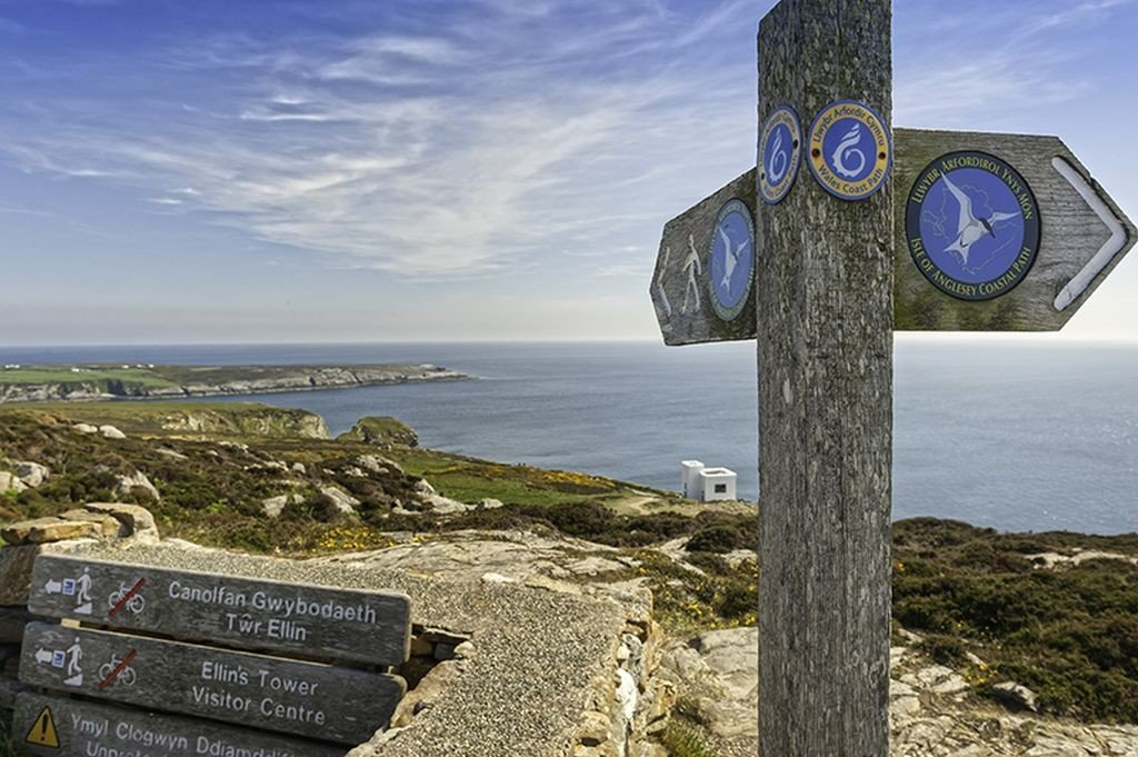 Wales travel: Signs at South Stack near Holyhead Anglesey North © Crown copyright (2014) Visit Wales
