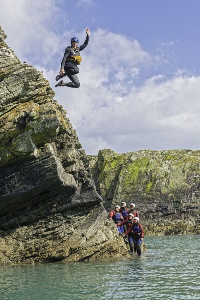Wales Travel coasteering © Crown copyright (2014) Visit Wales