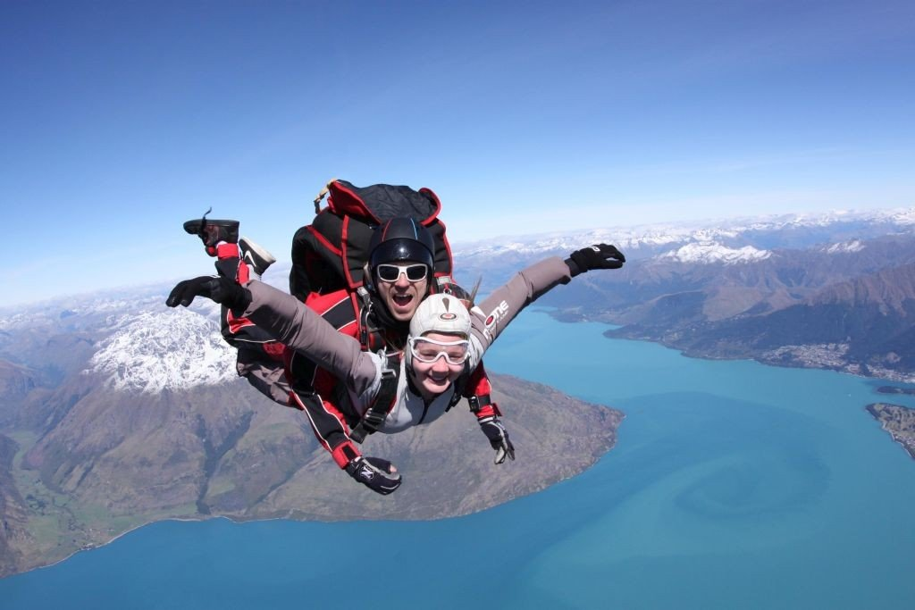 New Zealand adventure Skydiving over Queenstown. Photo: NZONE-The-Ultimate-Jump/ visuals.newzealand.com