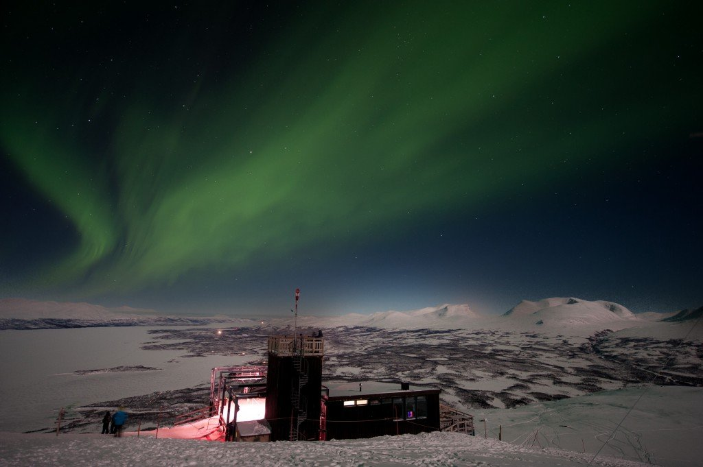 Northern Lights in Abisko. Photo: Lola Akinmade Akerström/imagebank.sweden.se