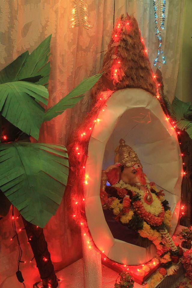 Ganpati-statue in cocunut1-by Deepa