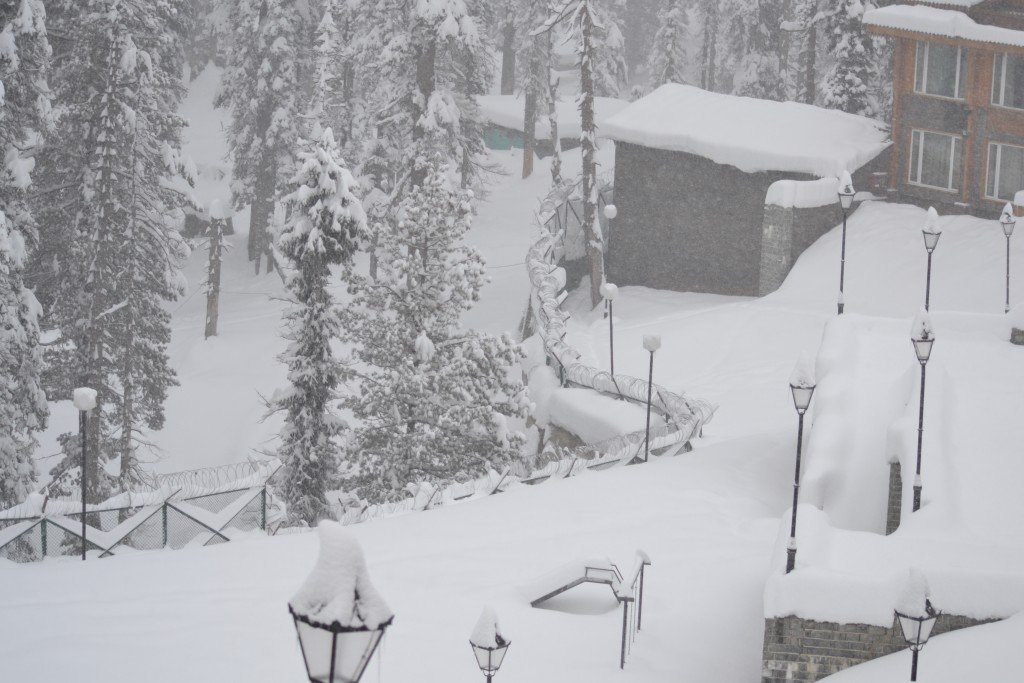 India gulmarg morning view from hotel