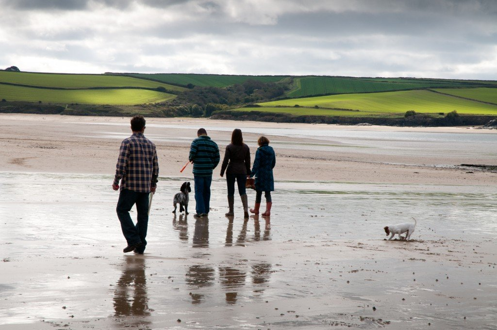 Family walk on the beach at Daymer, Padstow. Photo: Matt Jessop/ visitcornwall.com
