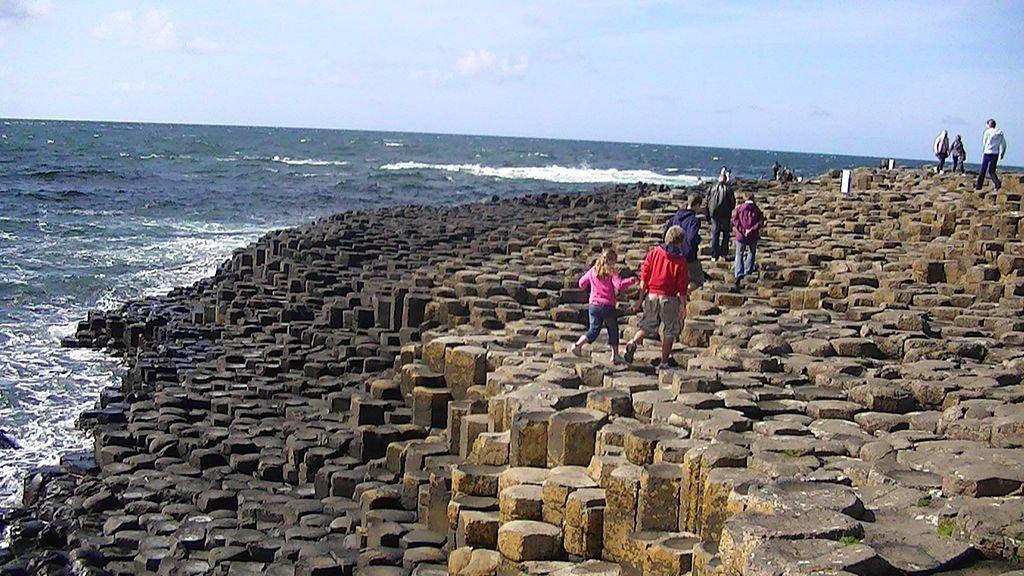 Basalt columns at Giant's Causeway. Photo: Adam Bishop via Wikimedia Commons