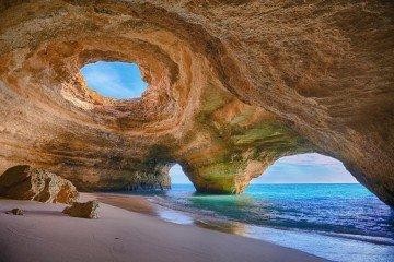 Portugal-Benagil Cave, Algarve-By Bruno Carlos CC BY-SA 3.0 via Wikimedia Commons