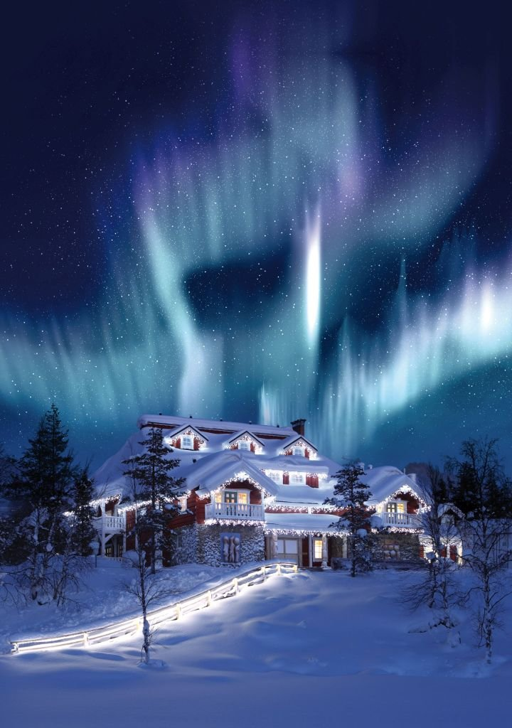 Kakslauttanen Celebration House_Northern Lights - 720 x 1024