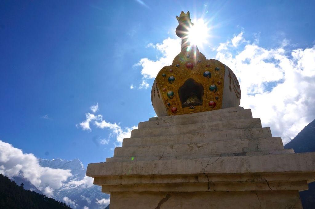 Buddhist-stupa-in-Nepals-Khumbu-region