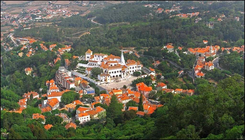 An aerial view of Sintra, Portugal