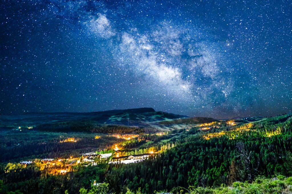Utah Brian Head Town- Starry Night. Photo by Mike Saemisch