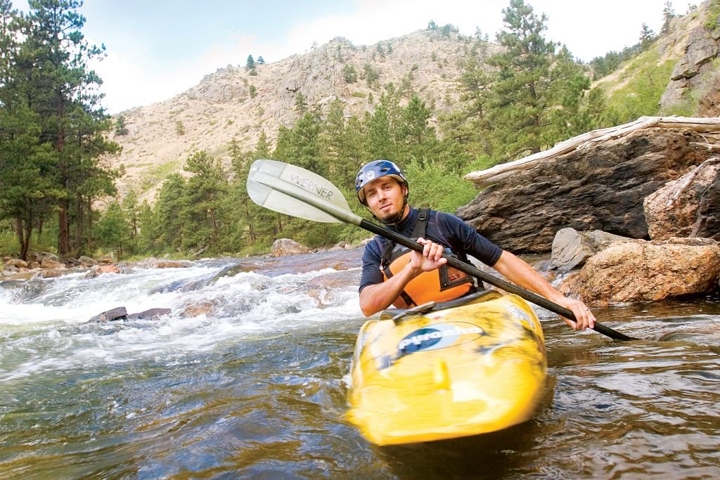 Kayaking the Cache la Poudre River near Fort Collins. Photo by-Matt Inden. Courtesy of Colorado Tourism