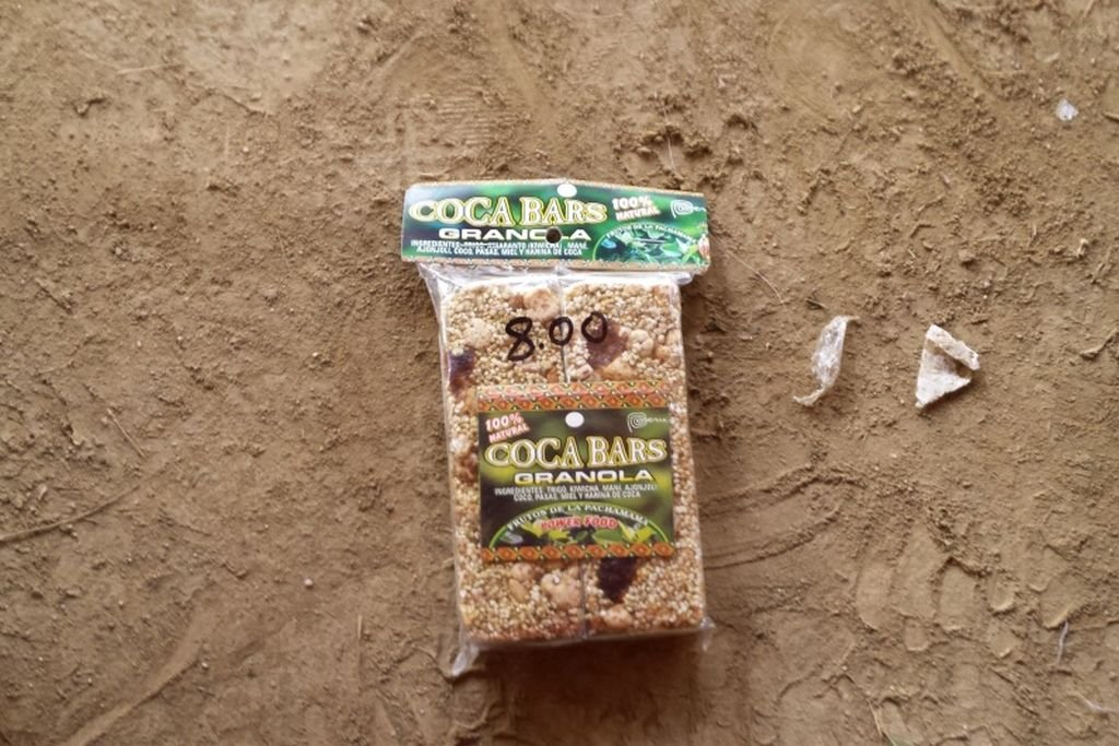 These cereal bars with coca leaves bought in Arequipa saved me when starving on the Machu Picchu