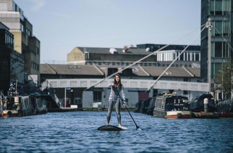 Lizzie Carr is the first to paddleboard the length of England