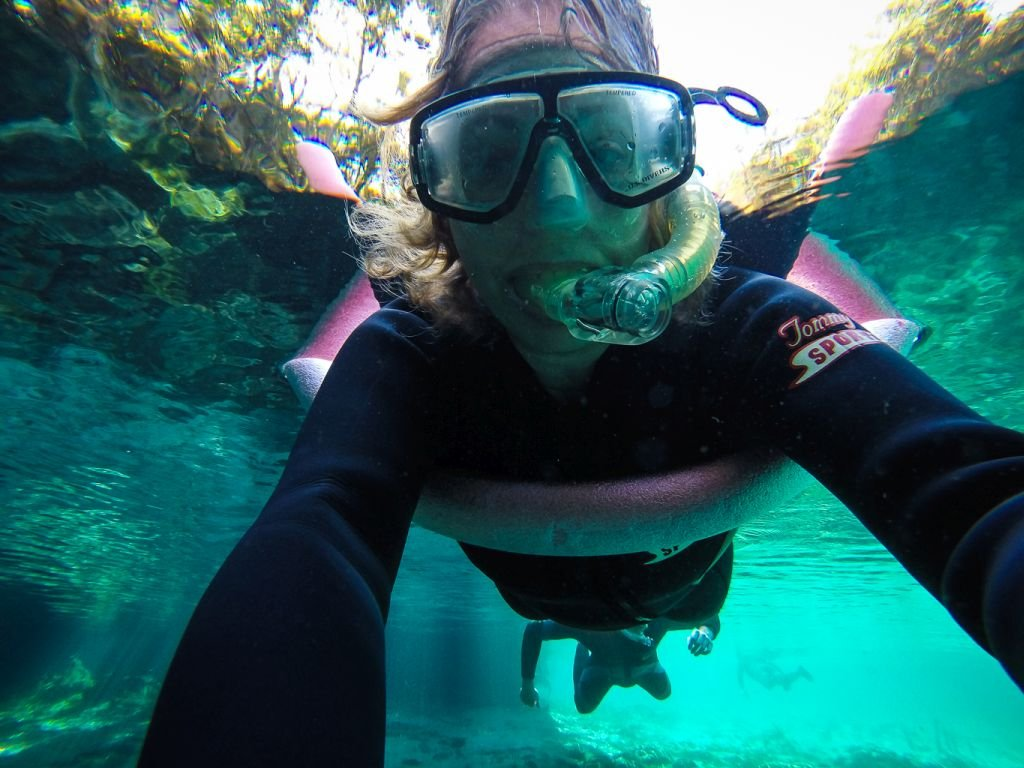 Florida-Swimming with Manatees