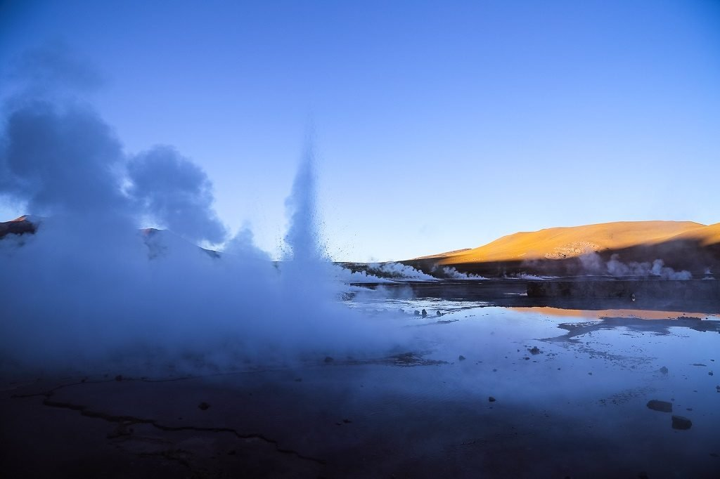 chile geysers at El Tatio