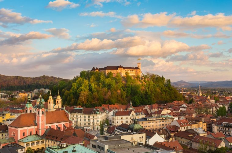 Panorama of Ljubljana, Slovenia trip , Europe.