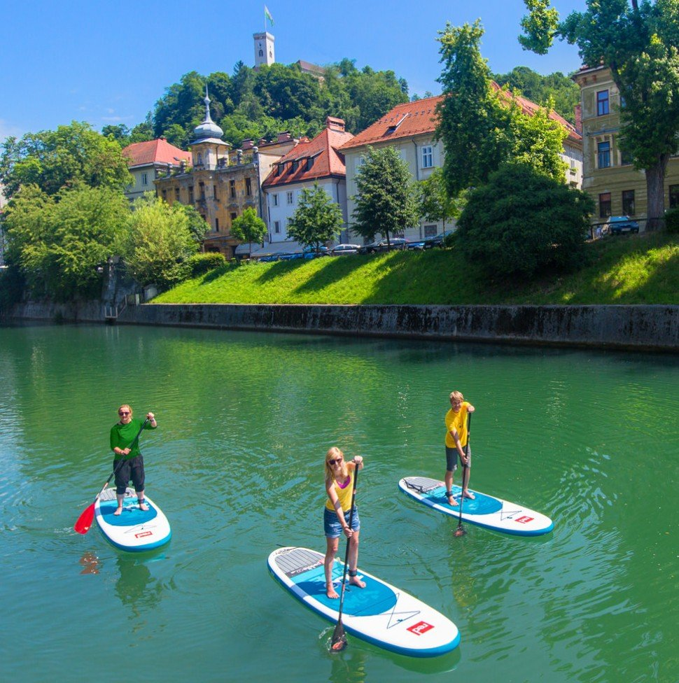 Slovenia ljubljana stand up paddleboarding adventure holidays in Europe