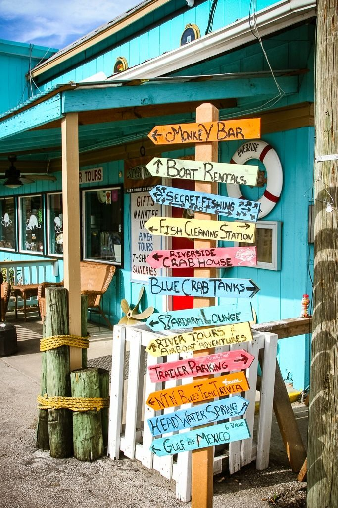 There's lots to see along the waterfront in Old Homosassa. Florida
