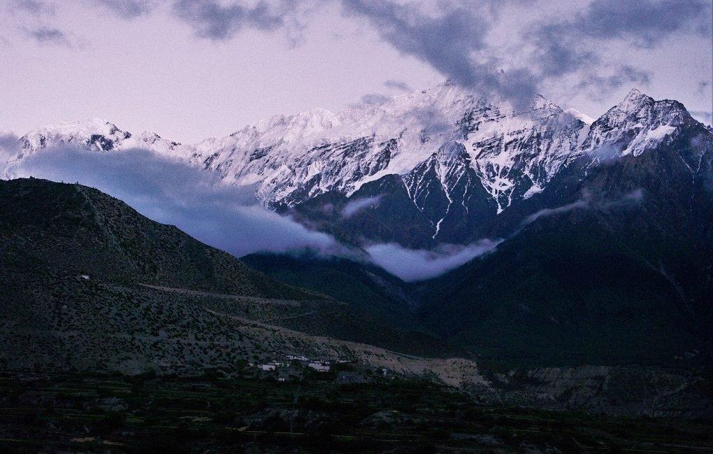 Mt Nilgiri stands watch over Jomsom in Nepal
