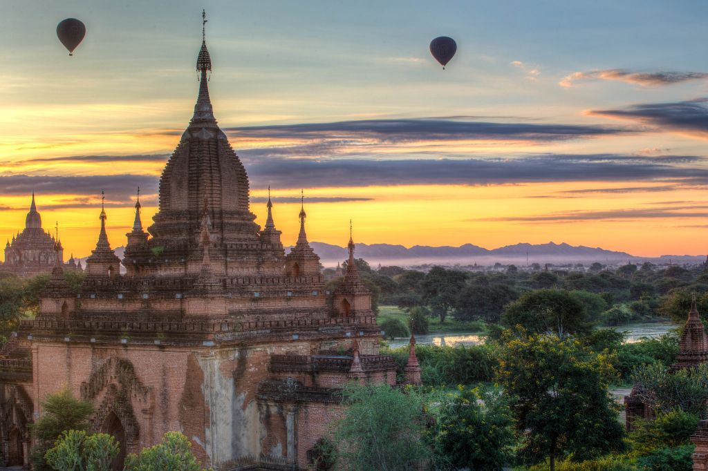 Temples in Bagan, Myanmar.
