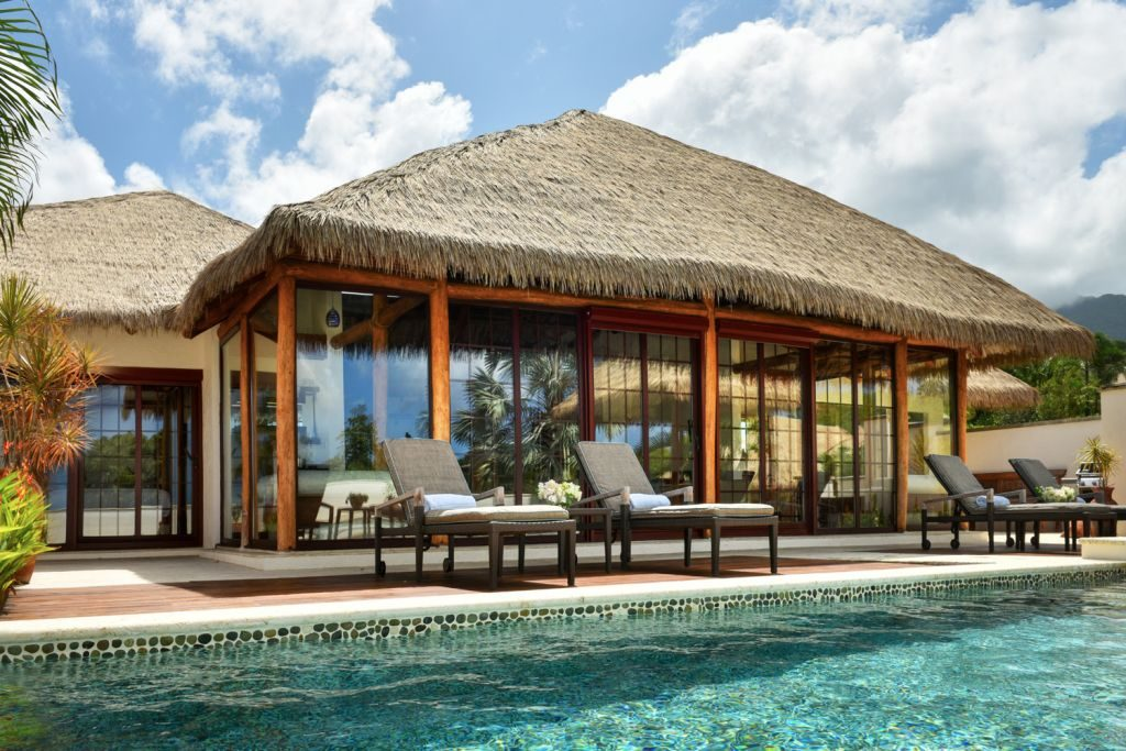Paradise beach - the villas are inspired by Balinese architecture