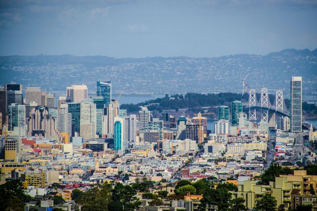 San Francisco Skyline looking East from Twin Peaks