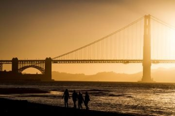 san francisco sunset-at-the-golden-gate-bridge