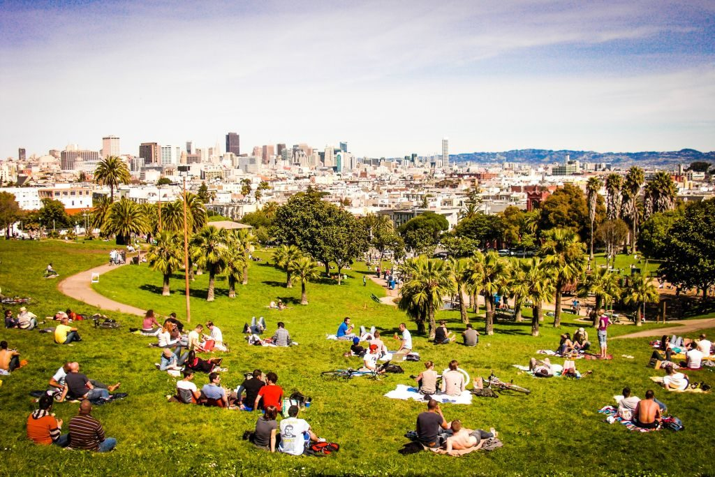 Dolores Park from the top @ 20th Street, San Francisco