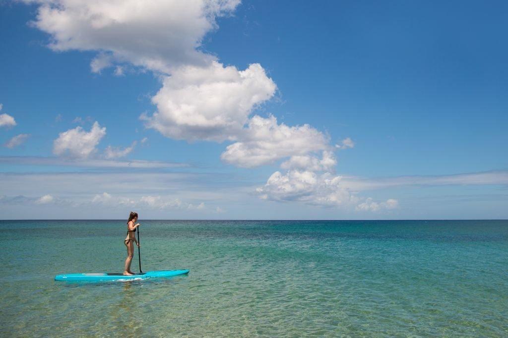 paradise beach nevis paddleboarding