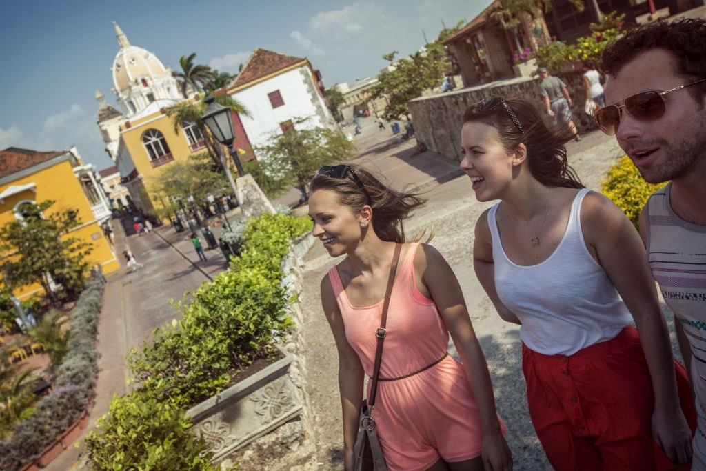 colombia-cartagena-town-square-travellers. Photo: G Adventures
