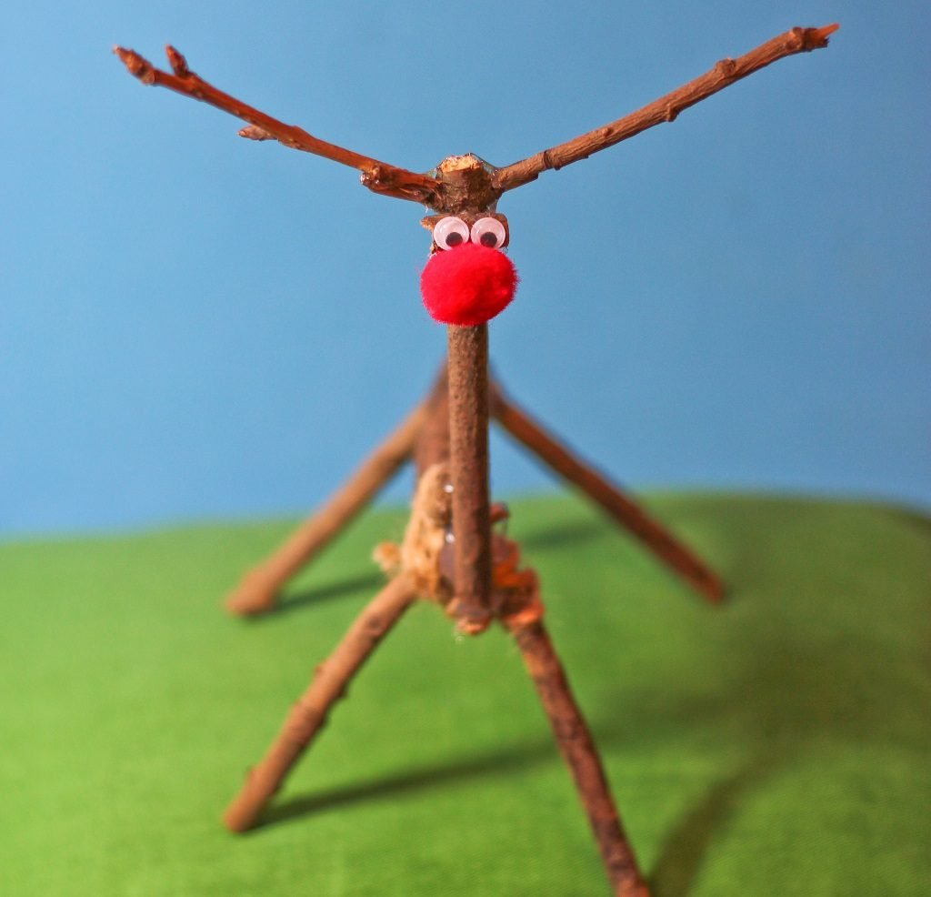 ecotherapy make a reindeer to help banish stress
