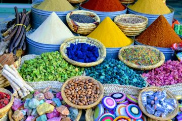 Spices in a Moroccan souk