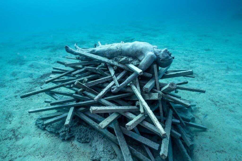 underwater museum Lazarote Spain