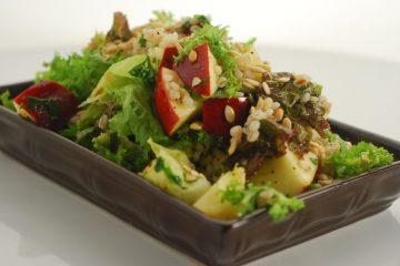 Apple Barley Pumpkin Seeds Salad recipe