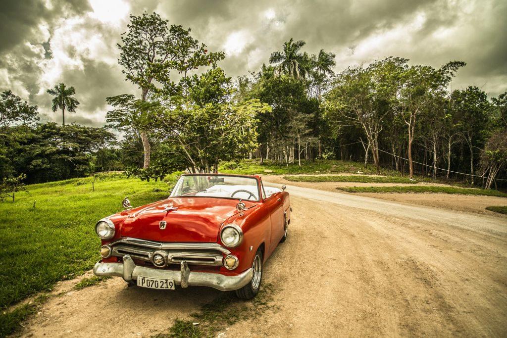 Red Impala in Cuba