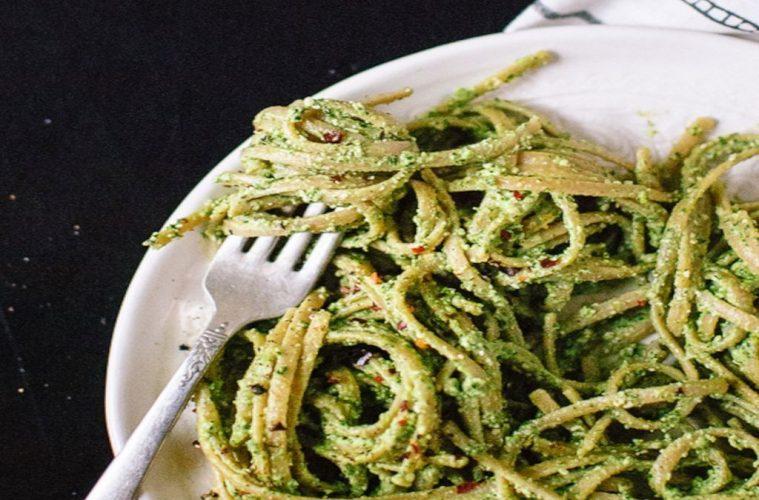 Zucchini Pasta with Kale Pesto: Easy Recipe even Non-Vegans will Love
