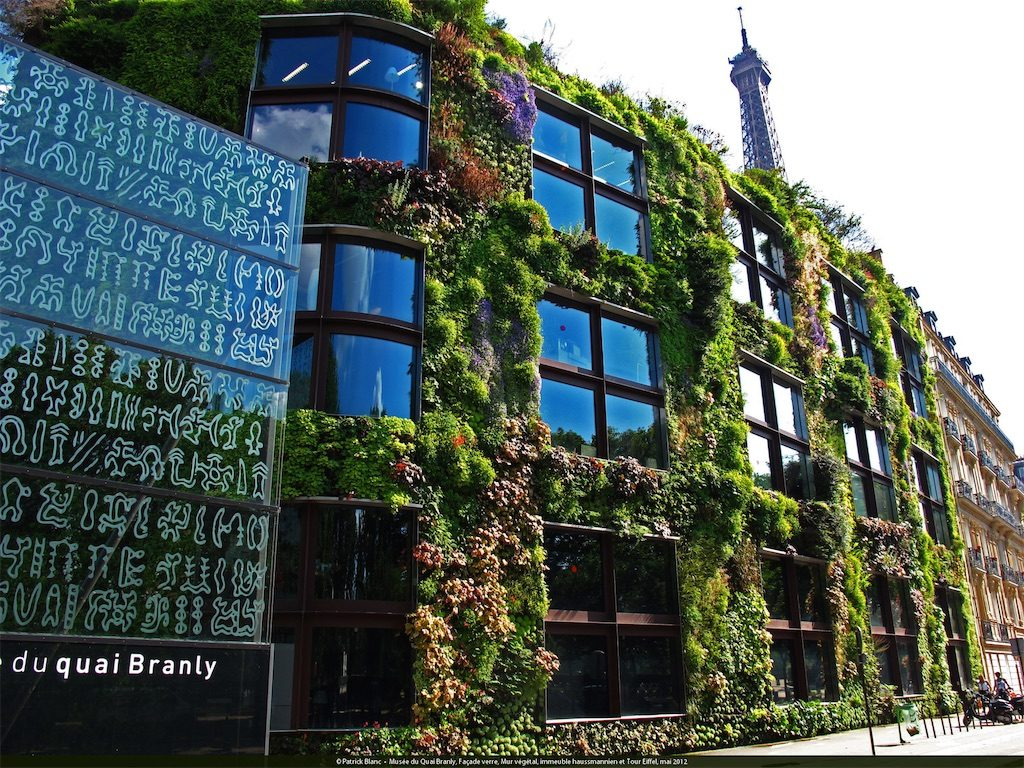 The Quai Branly Museum in Paris, France. Built in 2005