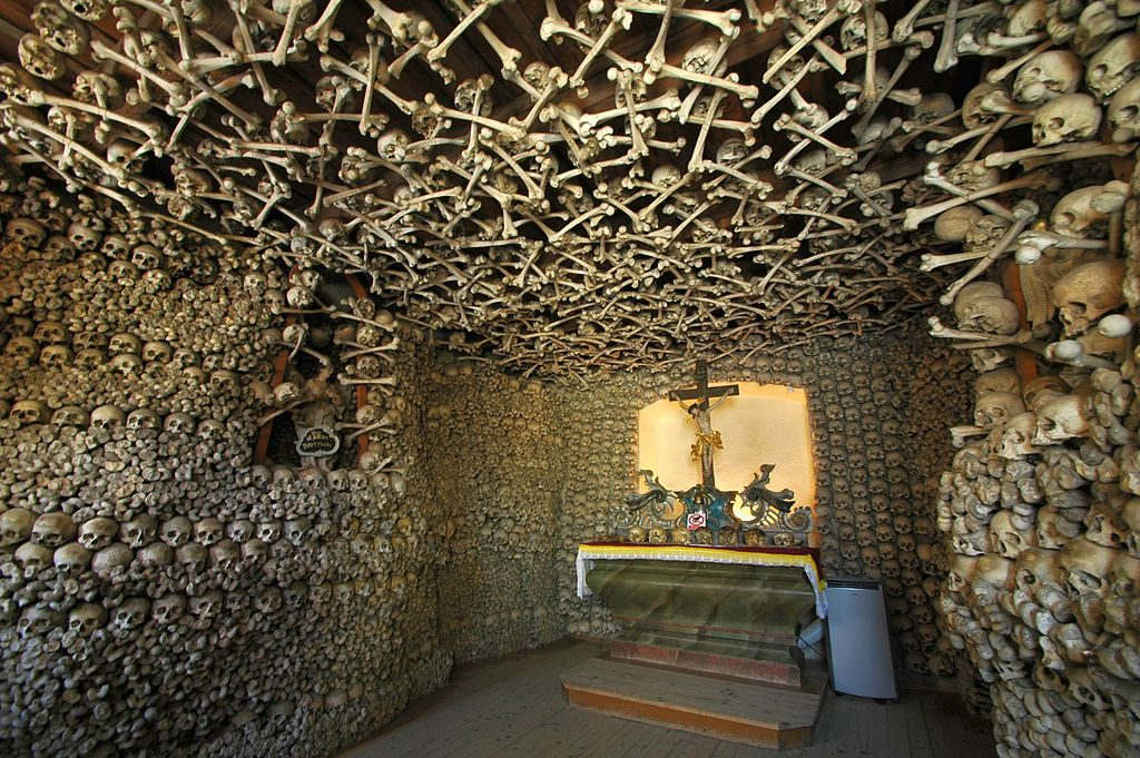 Chapel of Skulls in Czermna, Poland