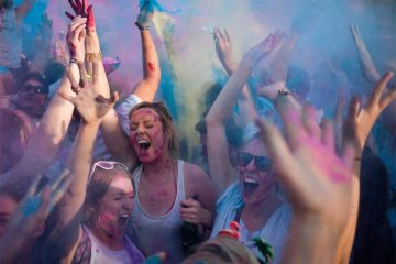 color run Holi U.K.