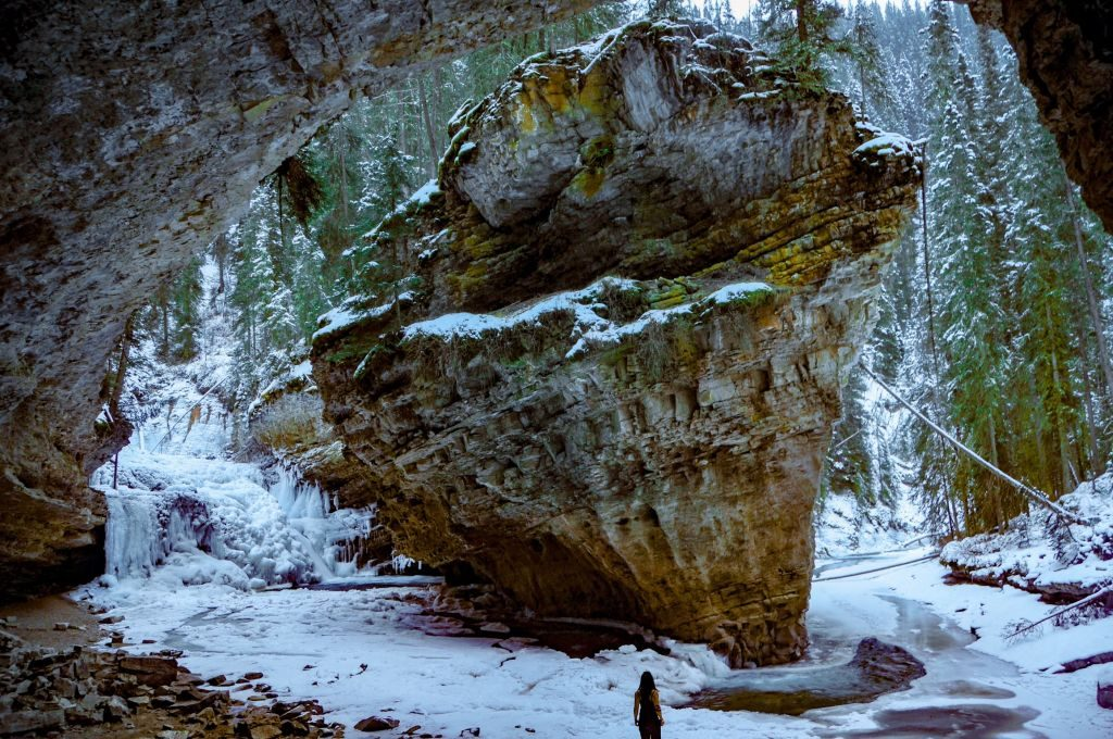 Johnston Canyon secret cave