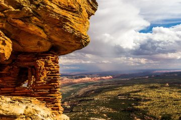 Prehistoric Granary overlooks Cedar Mesa. trump shrinks national monuments utah