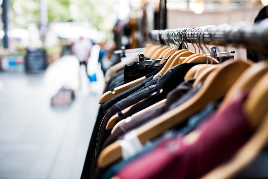 clothing on hangers