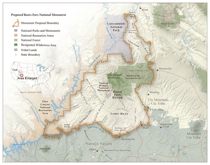 Map of Proposed Bears Ears National Monument