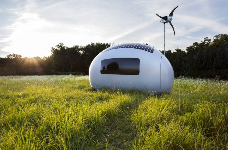 How You Can Live Off The Grid In This Sleek Egg Shaped