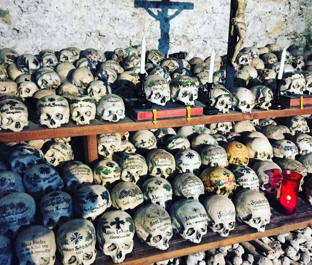 hallstatt charnel house - skulls