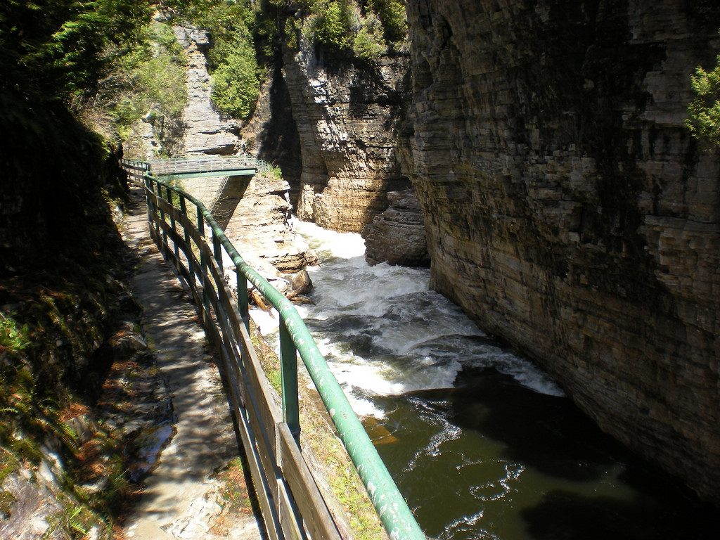 Adirondack NY New York Outdoor Adventure Explore The Gorge Ausable Chasm