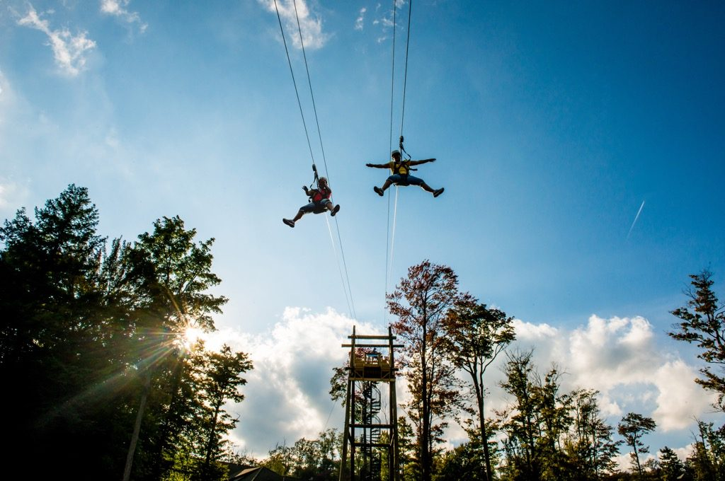 Chautauqua New York Zipline NY Outdoor Adventures Zip line through the Mountains With a Friend