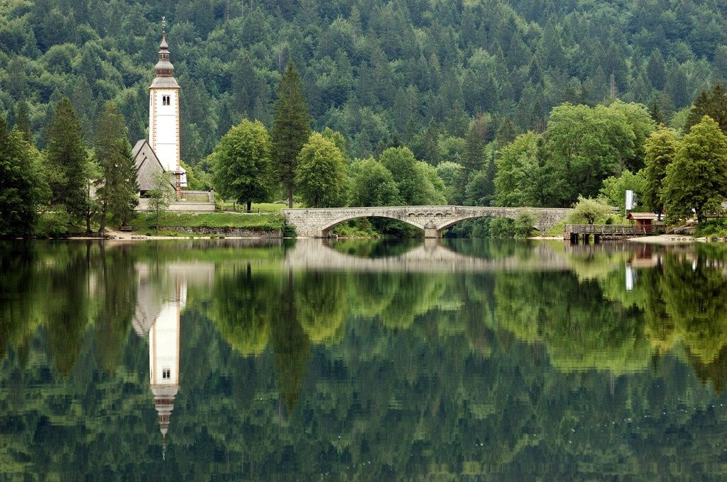 Lake bohinj slovenia outdoors