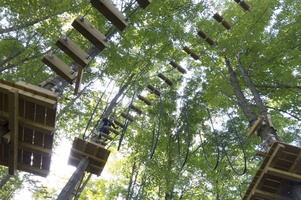 New York Chautauqua Zipline NY Outdoor Adventures Experience An Obstacle Course in the Tree Tops
