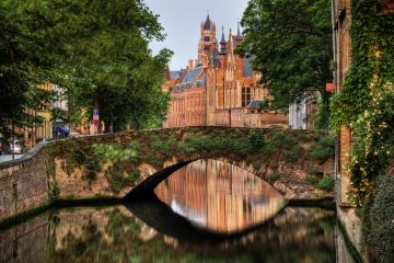 Bruges, Belgium is gorgeous for a canal tour