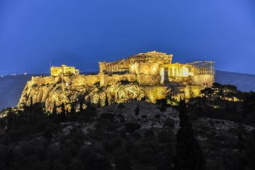 athens acropolis at night Greece travel